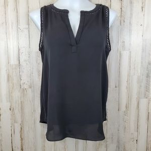Ann Taylor LOFT Womens Top Black Career Tank